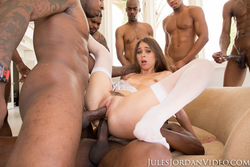 Jules Jordan - Riley Reid Interracial Gangbang! No Holes Barred! Where Will All Those Big Black Cocks Go? (1080p)