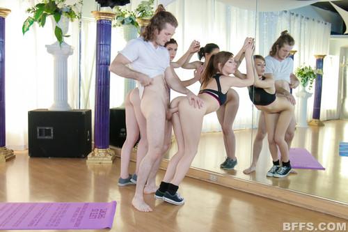 BFFs: Victoria Gracen, Maddie Winters, Alex Blake - Yoga Perv (1080p)