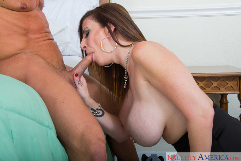 Busty Housewife Sara Jay Seduces Her Boy Toy To Fuck In Bed