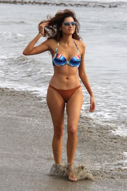 Blanca Blanco is seen posing on the beach in Malibu