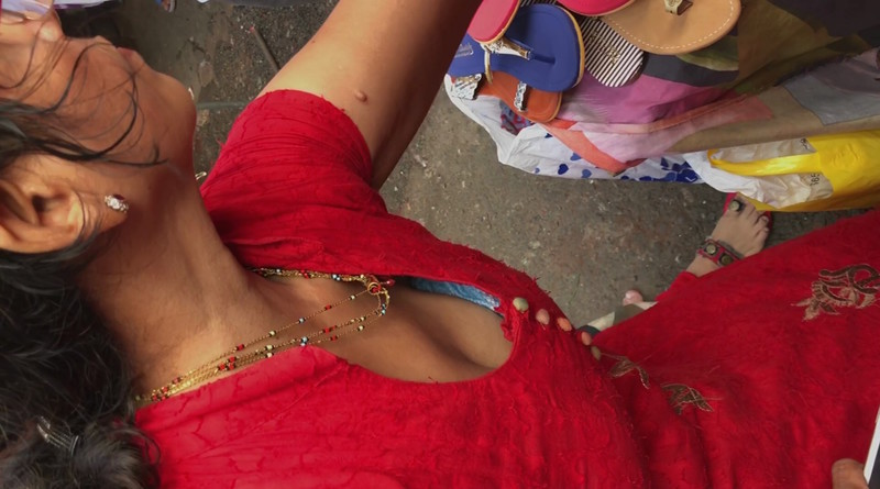 Desi Mast Hot Mall Downblouse With Her Sister  Desi Mms -1353