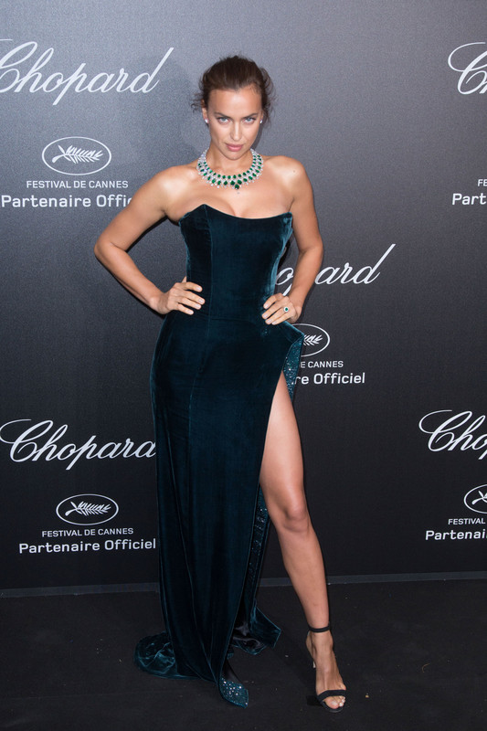 Irina Shayk at the Secret Chopard party during the 71st Cannes Film Festival