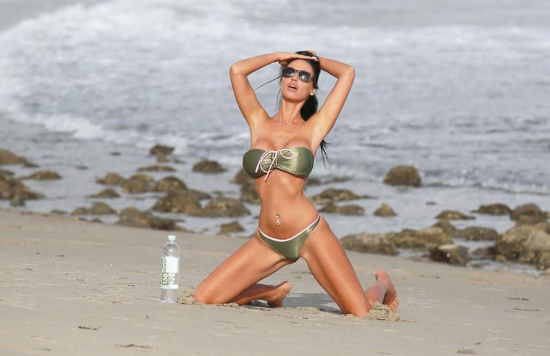 Charlie Riina, 34, wears bikini for 138 Water on the beach in Malibu