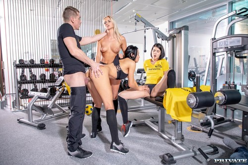 Private - Lady Dee, Anna Rose And Katy Sky Fuck The Trainer (1080p)