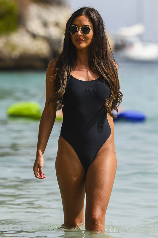Miss Great Britain, Shelby Tribble, was spotted on holiday in Spain