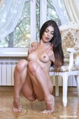 Kate Shoo - Sexy Black Lingerie Stripping Naked 07-27