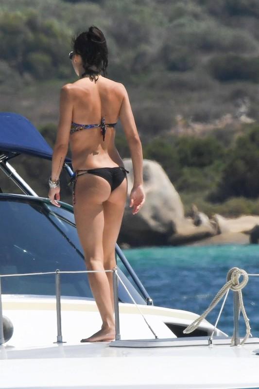 Elisabetta Gregoraci, was spotted a holiday in Porto Cervo, Sardinia, Italy