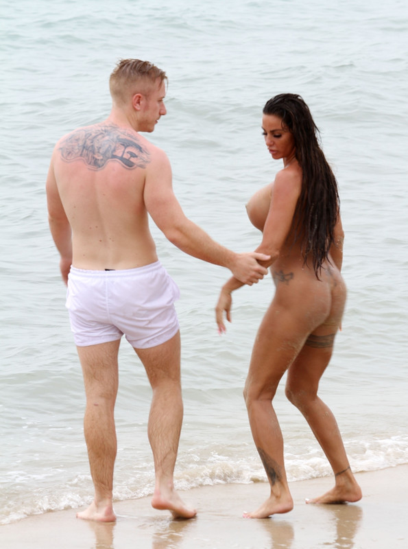 Katie Price goes nude on the beach while on holiday in Thailand