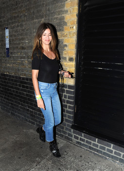 Sara MacDonald was spotted enjoying a night out at the popular celebrity haunt